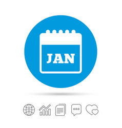 Calendar sign icon january month symbol vector