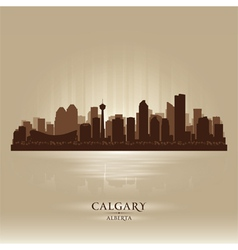 Calgary Alberta skyline city silhouette vector image