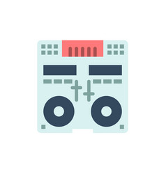 Cd console deck mixer music flat color icon icon vector