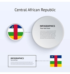 central african republic country set banners vector image
