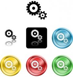cog gears icon symbol icon vector image