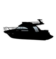 Cruising motor yacht vector