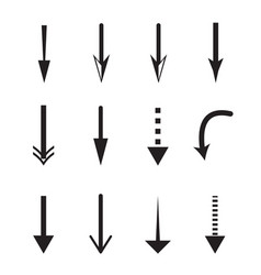 Down arrow icon on white background down arrow vector