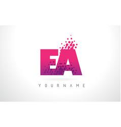 Ea e a letter logo with pink purple color vector