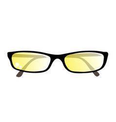 Eyeglasses with yellow lens vector