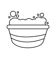 Foam bath for pet vector image