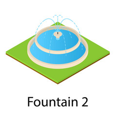 fountain icon isometric style vector image