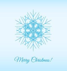 Fractal snowflake vector image