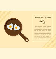 fried egg on pan vector image
