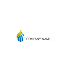 green nature construction building company logo vector image