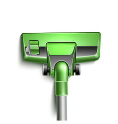 green vacuum cleaner nozzle close up vector image