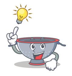 have an idea colander utensil character cartoon vector image