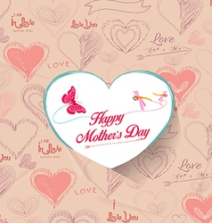 heart background Greeting card for Mothers Day vector image