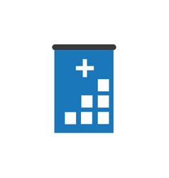 Hospital icon cross building human medical vector