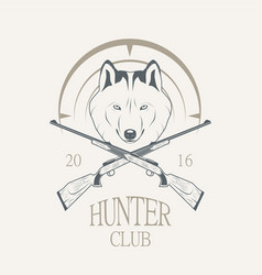 Hunting club logo vector