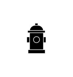 hydrant black icon concept hydrant sig vector image