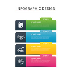 Infographics tab index 4 option template vector