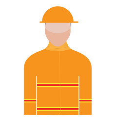 isolated male firefighter avatar vector image