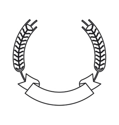 Isolated wheat ear with ribbon design vector
