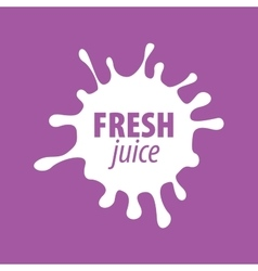Juice splash sign vector