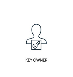 Key owner concept line icon simple element vector