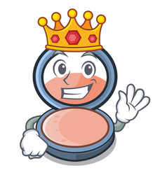 King blush is isolated with cartoons vector