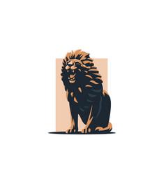 Lion grins vector