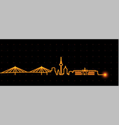mannheim light streak skyline vector image