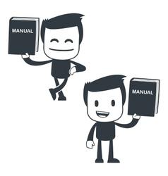 manual icon man vector image