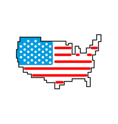 map usa isolated america sign united states vector image