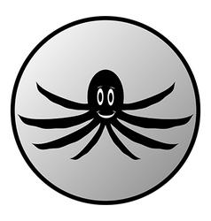 Octopus button vector