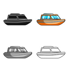 Orange rescue boatboat to rescue the drowning vector