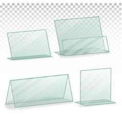 Plastic holder empty table holder vector