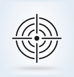 Purpose accuracy icon simple modern design vector