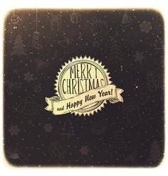 retro christmas background golden vector image