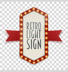 retro light sign with space for text vector image