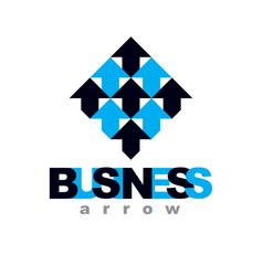 rising arrow corporate development logo isolated vector image