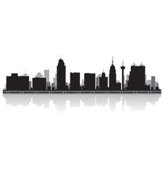 San antonio usa city skyline silhouette vector