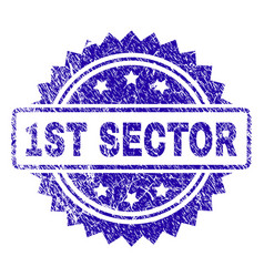 Scratched 1st sector stamp seal vector