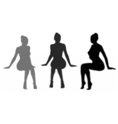 seated womans shadow vector image