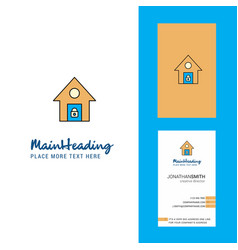 secure house creative logo and business card vector image