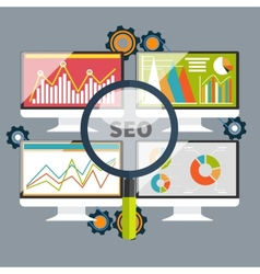 SEO optimization programming process vector image