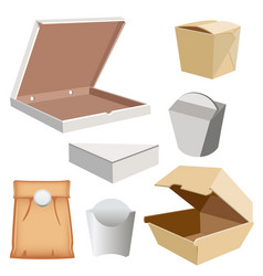 set box for your design and logo vector image