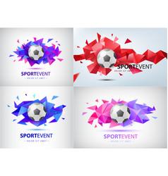 set logos for football teams vector image