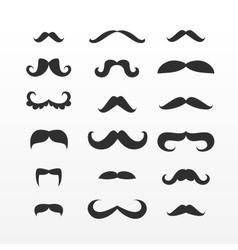 Set mustache vector