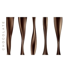 SET pouring hot chocolate vector