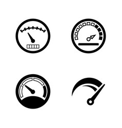 Speedometer gauges simple related icons vector