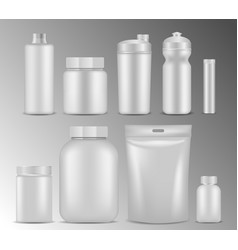 sport nutrition white container realistic vector image
