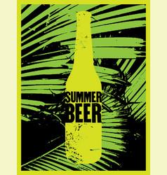 summer beer typography vintage grunge poster vector image