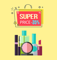 Super price -35 make up vector